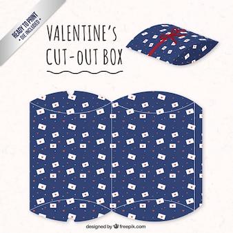 Valentijnsdag doos met liefdesbrieven