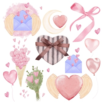 Valentijnsdag element pack