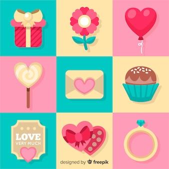 Valentijnsdag elementen achtergrond