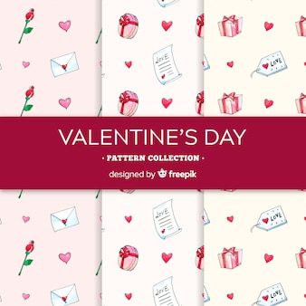 Valentijnsdag elementen patroon