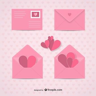 Valentijnsdag enveloppen