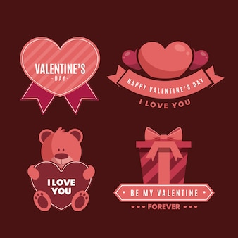 Valentijnsdag etiketten
