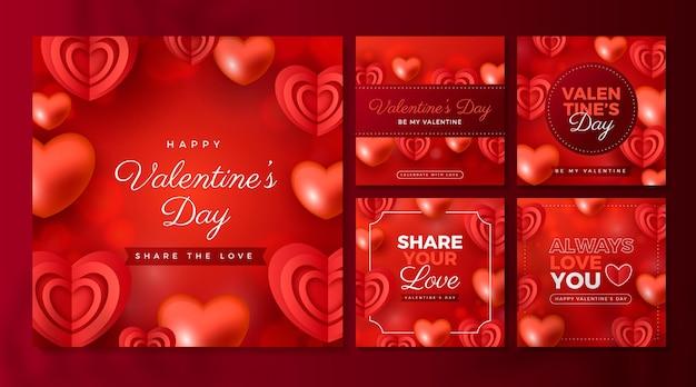 Valentijnsdag evenement instagram-berichten