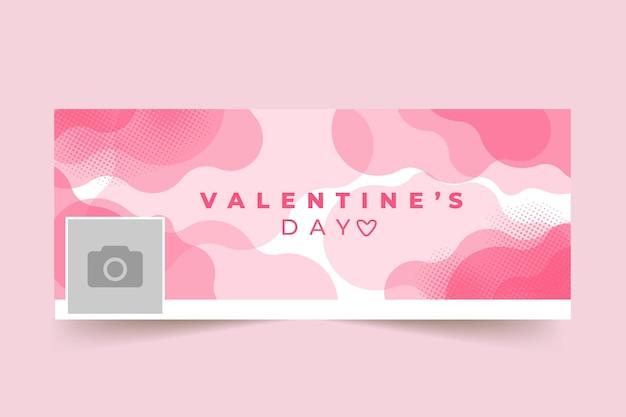 Valentijnsdag facebook omslagsjabloon