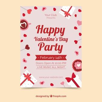 Valentijnsdag flyer / poster sjabloon
