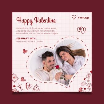 Valentijnsdag flyer vierkant
