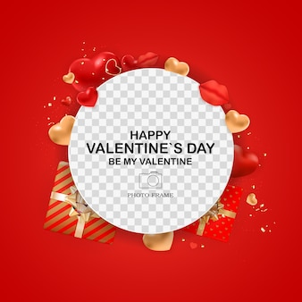 Valentijnsdag fotolijst sjabloon.
