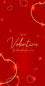Valentijnsdag gouden harten mobiel