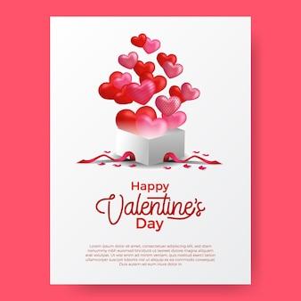 Valentijnsdag groet en uitnodigingskaart.