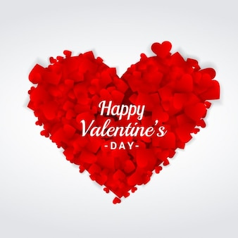 Valentijnsdag groet hart