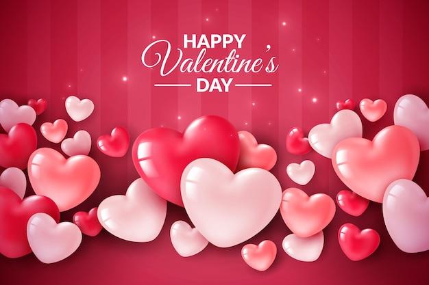 Valentijnsdag groet met hartjes