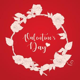 Valentijnsdag hand getekend vectorillustratie.