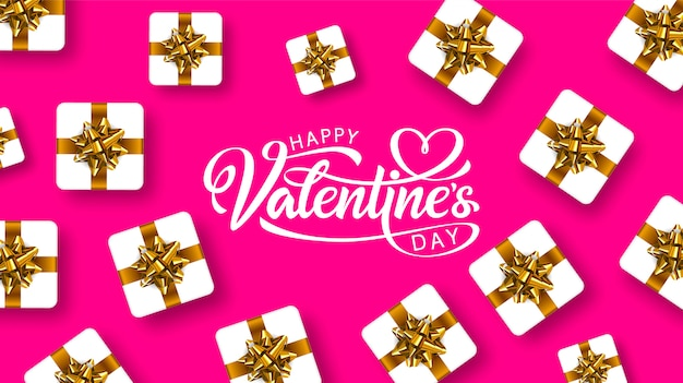 Valentijnsdag hand getrokken belettering. wenskaart