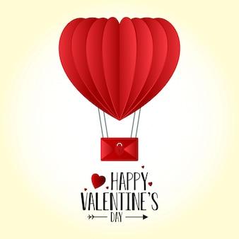 Valentijnsdag hart ballon achtergrond