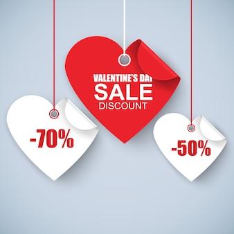 Valentijnsdag hart verkoop tags