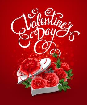 Valentijnsdag hartvorm doos.