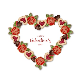 Valentijnsdag hartvormig frame