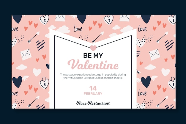 Valentijnsdag horizontale banner