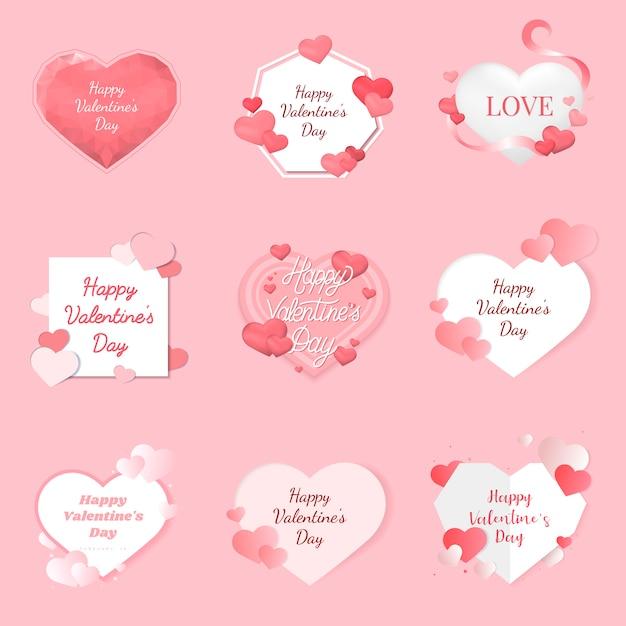 Valentijnsdag illustratie pictogrammen