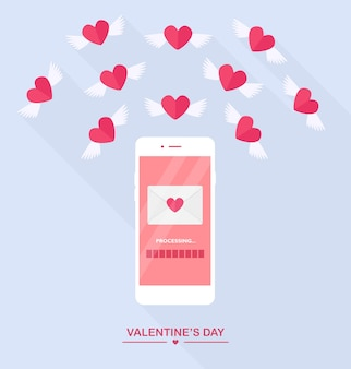 Valentijnsdag illustratie.