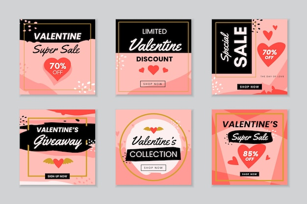 Valentijnsdag instagram post collectie