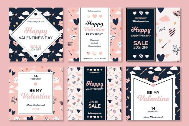 Valentijnsdag instagram posts-collectie