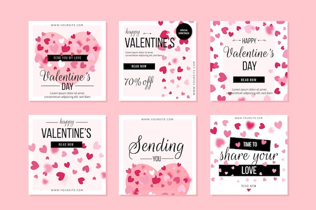 Valentijnsdag instagram posts pack