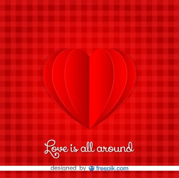 Valentijnsdag kaart hart ontwerp