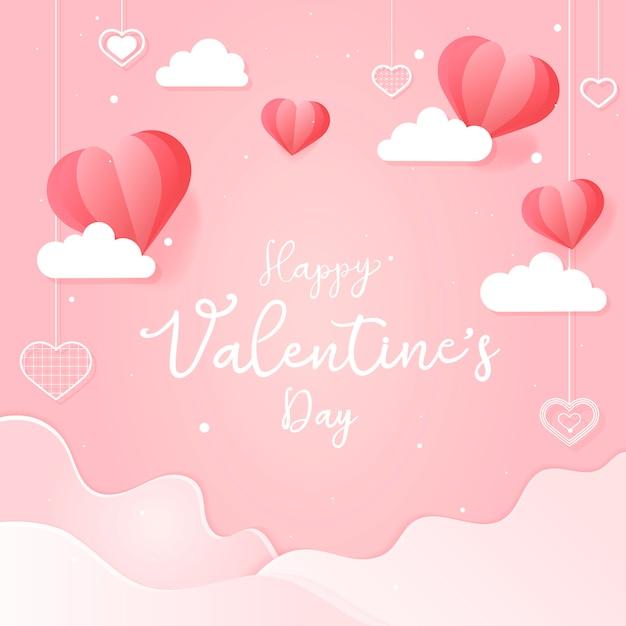 Valentijnsdag kaart illustratie