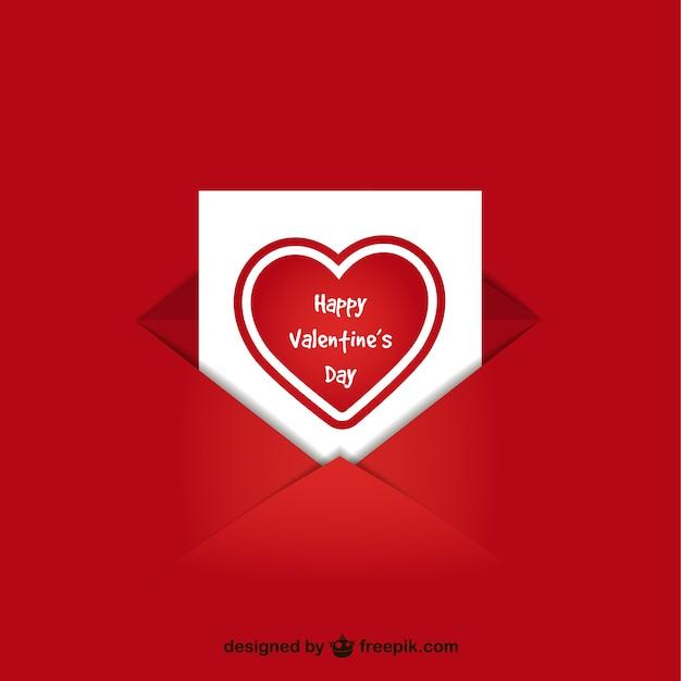 Valentijnsdag kaart in de envelop