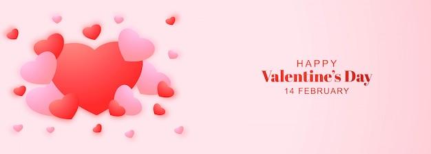 Valentijnsdag kaart met harten ontwerp