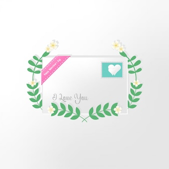 Valentijnsdag kaart met hartjes en plaats voor uw tekst