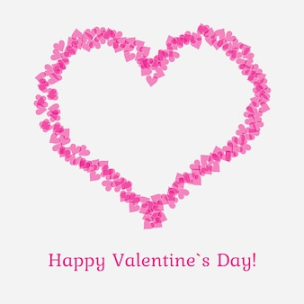 Valentijnsdag kaart met hartjes. vector illustratie.