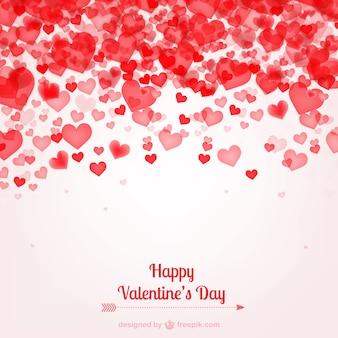 Valentijnsdag kaart met hartjes