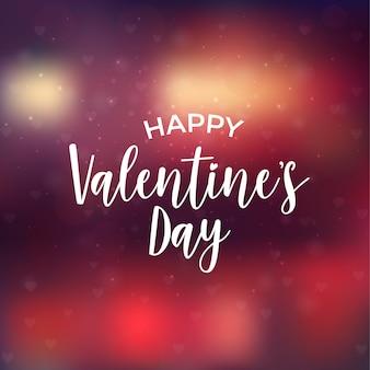 Valentijnsdag kaart met lichten en typografie