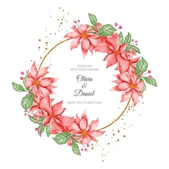 Valentijnsdag kaart met prachtige bloemen