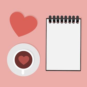 Valentijnsdag kaart met toewijding om te schrijven