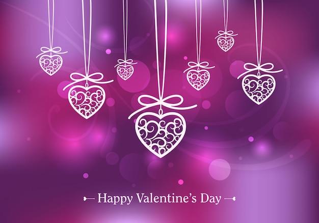Valentijnsdag kaart neon kleuren.