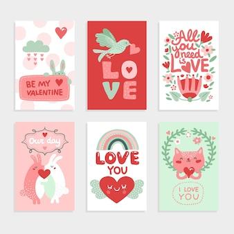 Valentijnsdag kaart.