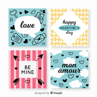 Valentijnsdag kaarten instellen