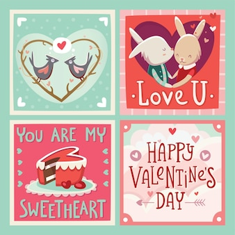 Valentijnsdag kaarten met groeten en liefde sturen.