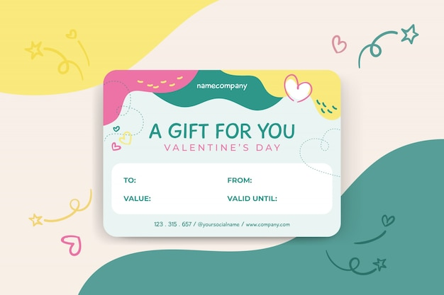 Valentijnsdag kaartsjabloon