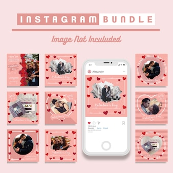 Valentijnsdag korting instagram post sjabloon