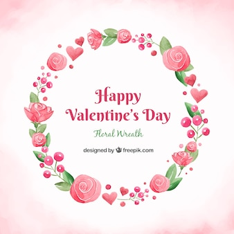 Valentijnsdag krans ontwerp