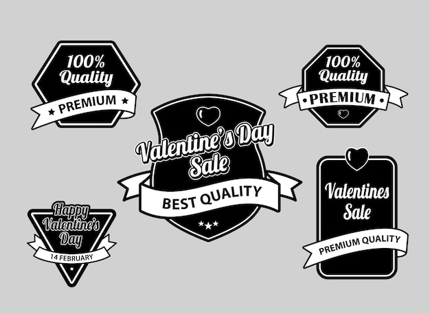 Valentijnsdag label badges