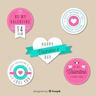 Valentijnsdag label collectio