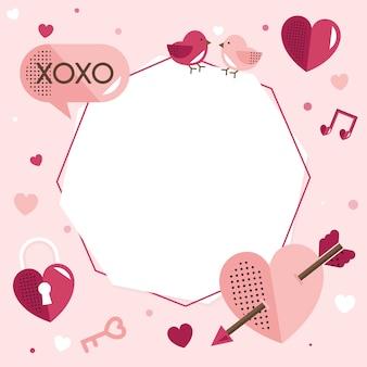 Valentijnsdag lege achtergrond vector