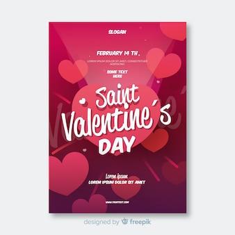 Valentijnsdag licht partij poster sjabloon