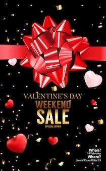 Valentijnsdag liefde banner achtergrond