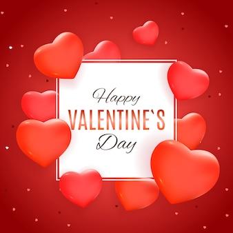 Valentijnsdag liefde en gevoelens achtergrondontwerp.